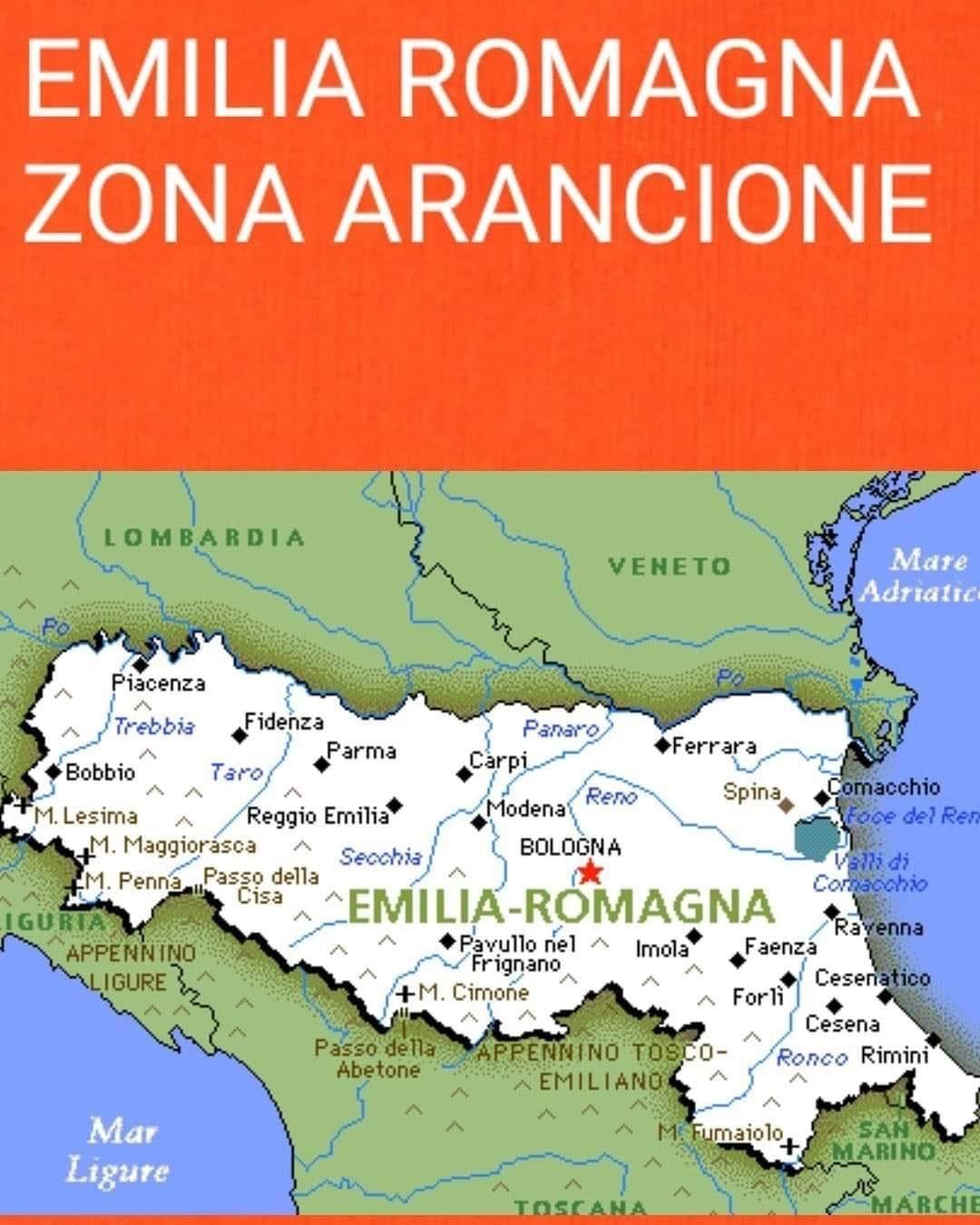 Cartina Emilia Romagna E Lombardia.Emilia Romagna Zona Arancione Comune Di Ozzano Dell Emilia