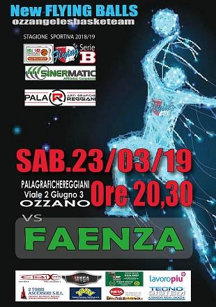 partita basket Sinermatic vs Faenza campionato 2018-2019